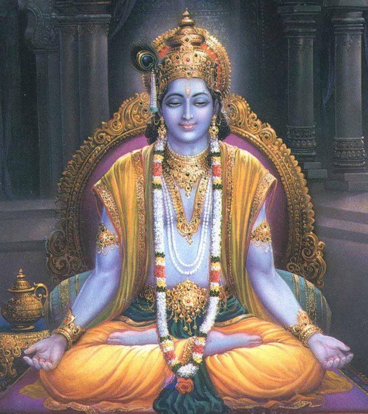 Krishna, il Dio Unico,  la Persona Suprema, da cui emanano poi tutte le altre emanazioni divine rivelate in ogni religione, che esprimono solo uno tra i suoi infiniti e inconcepibili aspetti.